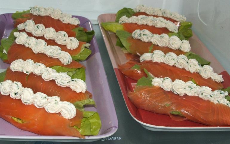 Roulades de saumon fumé au brocciu